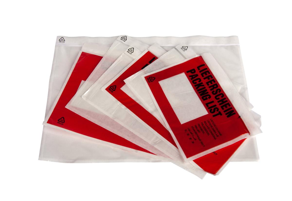 PE-Begleitpapiertaschen