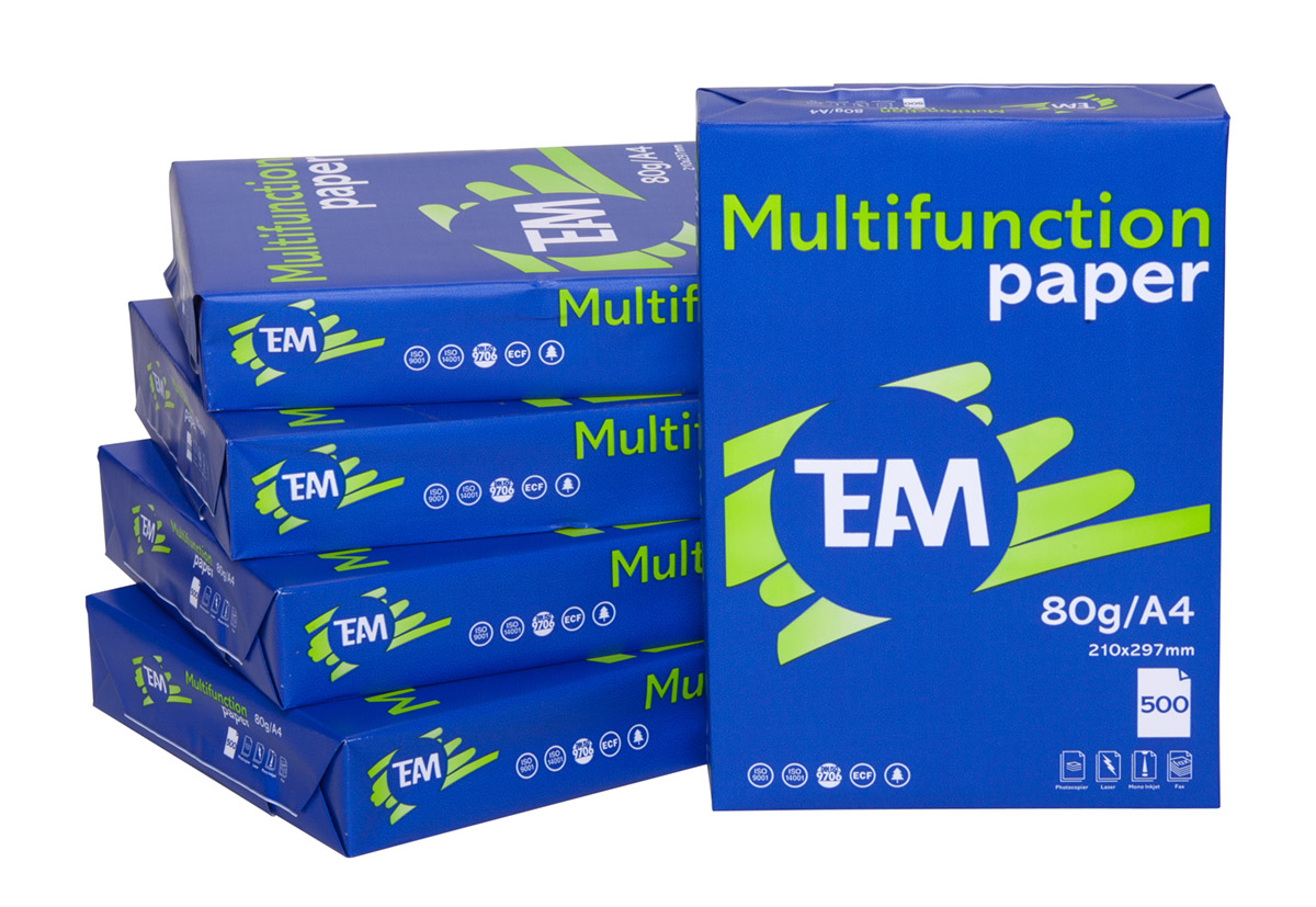 Büropapiere wie Kopierpapier oder Endlospapier